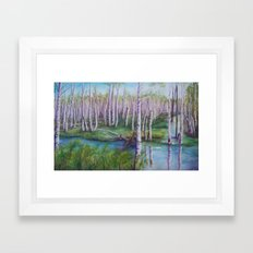 Crossing the Swamp WC151101-12 Framed Art Print