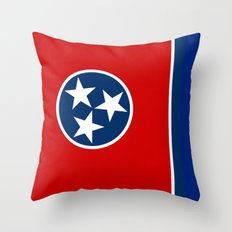 State flag of Tennessee, HQ image Throw Pillow