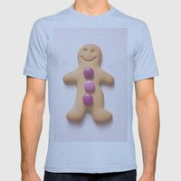 GingerBread Man Mens Fitted Tee Athletic Blue SMALL