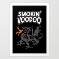 Smokin' Voodoo Dragon Art Print