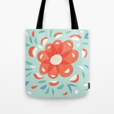 Whimsical Decorative Red Flower Tote Bag