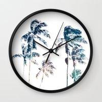 Stellar Palms Wall Clock