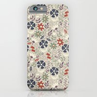 iPhone & iPod Case featuring Retro Flora by Anna Deegan