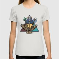 Triad Green Womens Fitted Tee Silver SMALL