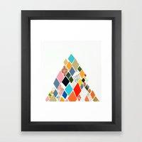 White Mountain Framed Art Print