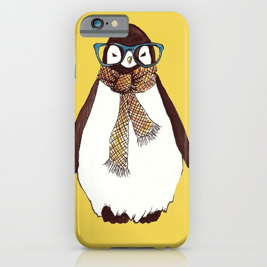 """""""Hipster Penguin"""" iPhone & iPod Case"""
