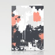 Abstract Paint Pattern 0… Stationery Cards