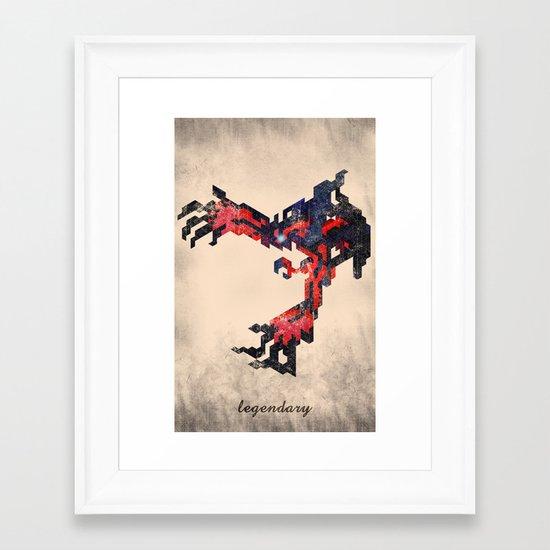 I Am Legendary Y- Geometric Framed Art Print