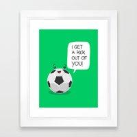 Tough Love! Framed Art Print