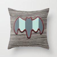 Arctic Bat Throw Pillow