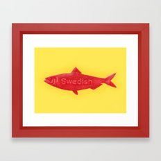 Swedish Fish Framed Art Print