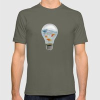 ideas and goldfish 02 Mens Fitted Tee Lieutenant SMALL