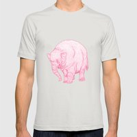Pink Elephant Mens Fitted Tee Silver SMALL