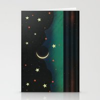 Abstract Moonscape Stationery Cards