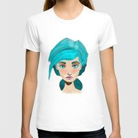 turquoise T-shirts featuring Turquoise by Hingy Art