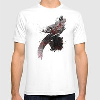 Flying Rose Mens Fitted Tee White SMALL