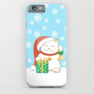 White Christmas Cat iPhone 6 Slim Case