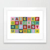 Alphabet Landscape Framed Art Print