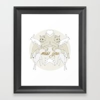 Miss You (Kitsch Symmetry series)  Framed Art Print