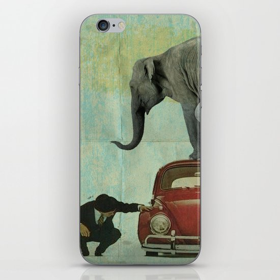 Looking for Tiny _ elephant on a red VW beetle iPhone & iPod Skin