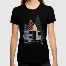Wild Airstream... Womens Fitted Tee Black SMALL