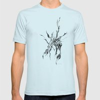 Hydra (detail) Mens Fitted Tee Light Blue SMALL