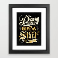 Pay Attention  Framed Art Print