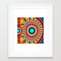 Colourful Fantasy Patter… Framed Art Print
