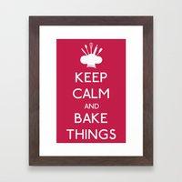 Bake Things Framed Art Print