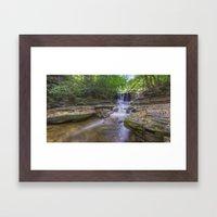 Autumn Falls Framed Art Print