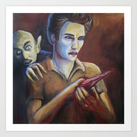 The Assassination of Edward Cullen by the Coward Nosferatu Art Print
