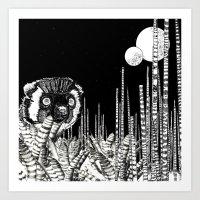 UZU JUNGLE : MOONS & THE… Art Print