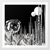 UZU JUNGLE : MOONS & THE… Art Print