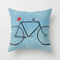 I ♥ BIKES Throw Pillow