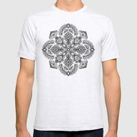 Pattern in Black & White Mens Fitted Tee Ash Grey SMALL