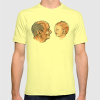 Live Young Mens Fitted Tee Lemon SMALL