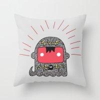 Grey. Throw Pillow