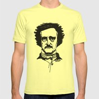 Edgar Allan Poe Mens Fitted Tee Lemon SMALL