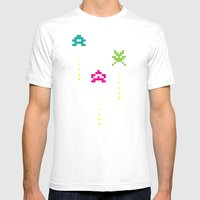 invaders Mens Fitted Tee White SMALL