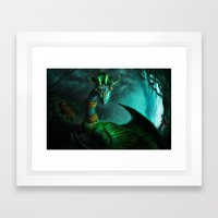 Aztec dragon (older work) Framed Art Print