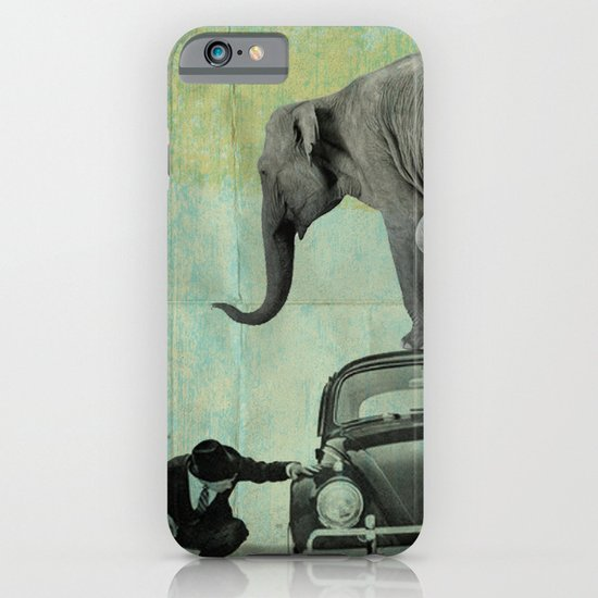 Looking for Tiny, Elephant on a VW beetle iPhone & iPod Case