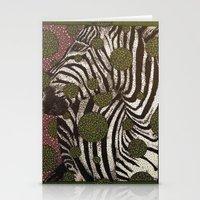 Zebra Face Stationery Cards