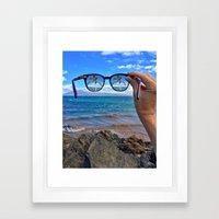 Hawaii Sunglasses Palmtrees Framed Art Print