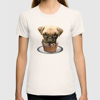 pupcake Womens Fitted Tee Natural SMALL