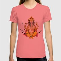 Ganesha Womens Fitted Tee Pomegranate SMALL