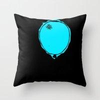 Awkward Balloon Throw Pillow