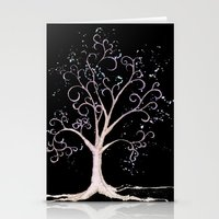 Dark Elven Tree Stationery Cards
