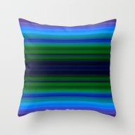 Bright Lined Light Blue … Throw Pillow