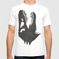 Jurassic Minimalist Mens Fitted Tee White SMALL