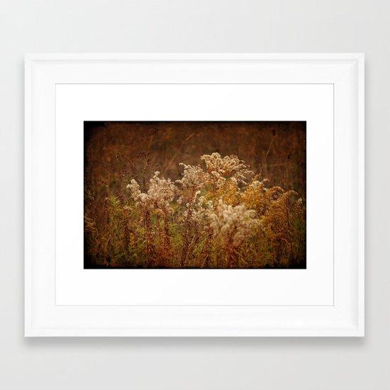 Dried Arrangement Framed Art Print